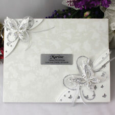 60th Birthday Guest Book - 3D Butterfly - Add a Name & Message