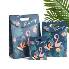 6x Flamingo Party Paper Carrier Bags Wedding Treat Gift Loot Bags Favour Bags