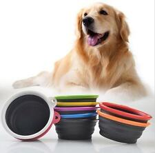 Portable Pet Feeding Bowl Collapsible Dog Food Water Dish Silicone Feeder Bowls