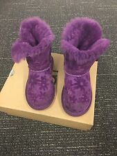 Uggs With Bailey Button And Flowers, Toddler Girls Size 10