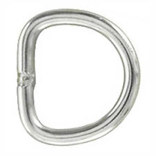 HILASON WESTERN HORSE TACK 2mm THICK NICKEL PLATED STEEL WIRE WELDED DEE RING