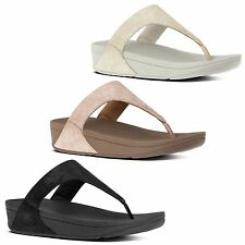 FitFlop™ SHIMMY™ Ladies Womens Suede Leather Toe Post Wedge Heel Summer Sandals