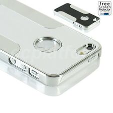 Luxury Brushed Aluminum Back Metal Chrome Hard Case Cover for Apple iphone 5S 5