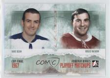 2012 In the Game Forever Rivals Series #PM-01 Dave Keon Rogie Vachon Hockey Card