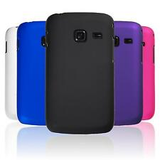 Hardcase for Samsung Galaxy Y Duos rubberized  Cover + protective foils