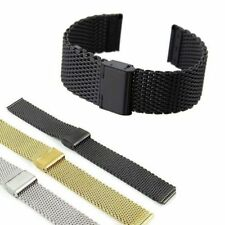 Unisex Bracelet Mesh Watchband Replacement Straps Stainless Steel
