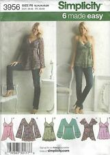Simplicity 3956 Misses' Tops    Sewing Pattern