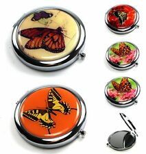 Compact Mirror Folding Travel Butterfly Collect Lady Handbag Pocket Purse Makeup