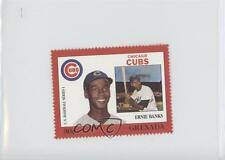 1988 Grenada Major League Baseball in Stamps US Series 1 #ERBA Ernie Banks Card