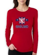 ENGLAND Flag Crest Women Long Sleeve T-Shirt National Team Soccer World Cup 2015