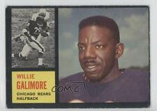 1962 Topps #14 Willie Galimore Chicago Bears Football Card