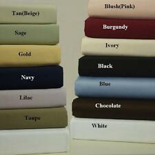 600 Thread count Solid 100% Combed cotton sheet sets