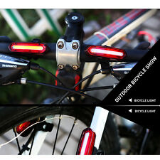 USB Rechargeable Bike Bicycle Rear Tail LED Light Cycling Safety Warning Lamp