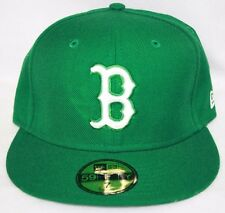NEW Boston Red Sox NEW ERA Green White 59FIFTY MLB Baseball Fitted Hat Cap