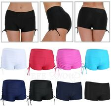 Women Boyleg Bikini Bottom Mini Boardshorts Swimwear Beach Shorts Boyshorts Ties