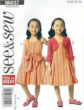 See & Sew 6037 Girls' Shrug and Dress 3 to 8   Only $4.97    Sewing Pattern