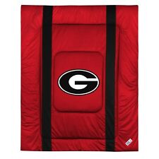 Georgia Bulldogs UGA Sideline Bedding Comforter Cover