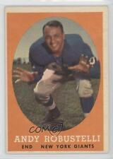 1958 Topps #15 Andy Robustelli New York Giants Football Card