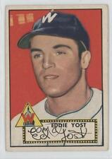 1952 Topps #123 Eddie Yost Washington Senators Baseball Card