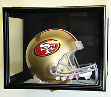 FULL SIZE/ NFL RIDDELL REPLICA HELMET DISPLAY CASE CABINET WALL RACK TABLE STAND