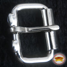 "2"" HILASON HORSE WESTERN TACK SADDLE NICKEL PLATED WIRE ROLLER BUCKLE"