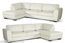 SECTIONAL OFF-WHITE LEATHER MODERN LEFT OR RIGHT FACING CHAISE SOFA SET