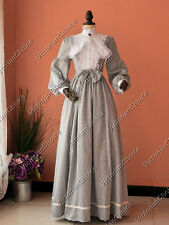 Civil War Victorian Old West Stripes Gown Dress Reenactment Theater Clothing 191