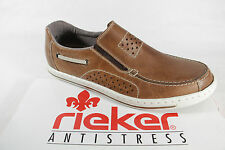 Rieker Slippers, brown, Wechslefussbett, for Insoles fits, Real leather NEW