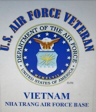 VIETNAM NHA TRANG AIR FORCE BASE*U.S.AIR FORCE VETERAN W/ AIR FORCE EMBLEM*SHIRT
