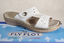 Fly Flot Ladies Slippers Slippers House Shoes white Real leather NEW