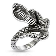 stainless steel Ring silver 0 7/8in wide Looped Snake 50 (16) ? 61 (19,5)