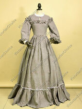Civil War Victorian Country Old West Ghost Dress Gown Punk Halloween Costume 260
