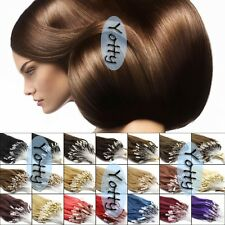 Easy Loop Micro Ring Beads Tipped Remy Human Hair Extensions Many Colors 0.5G/S