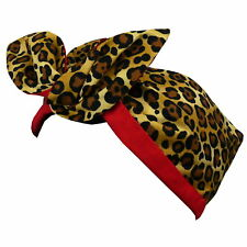 Girls Toddler Rockabilly Style 1950s Hairband - Leopard Print & Red