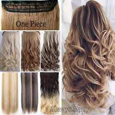 100% Extra Thick Clip In Hair Extensions Full Head Long Curly AS Human Ombre PR5