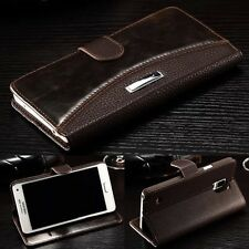 Luxury PU Leather Case Magnetic Flip Stand Wallet Cover For iPhone Samsung  K