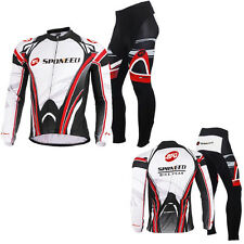 Mens Long Sleeve Cycling Jersey Suits Bicycle Wear Padded Pants Biking Clothing