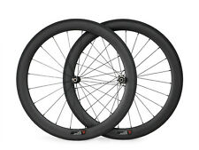 1 Set UD Matte 25mm Width 60mm Clincher Carbon Bike Road Wheels Bicycle Wheelset