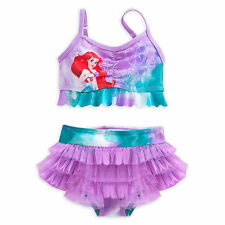 THE LITTLE MERMAID PRINCESS ARIEL SWIMSUIT GIRLS 2PC DISNEY STORE SZ 3-9/10 NEW