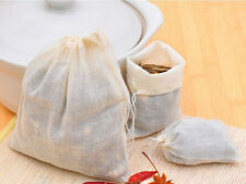 wholesale 10/100pc 8x10 Cotton Muslin Reusable Drawstring Bags Soap Herb Tea bag
