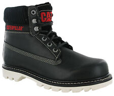 Caterpillar Colorado Black Boots Ankle Wide Lace Leather Mens Work Boots CAT