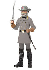 Confederate General Robert E Lee Kid's Civil War Grey Complete Costume Hat Beard