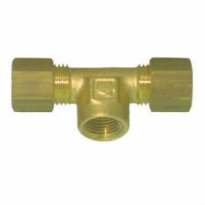 "Brass Compression Fitting. Female Branch Tee. 3/8"" Tube."