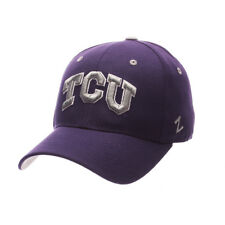 ZEPHYR MEN'S TCU TEXAS CHRISTIAN HORNED FROGS DH ZWOOL FITTED HAT