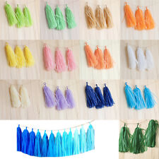 5Pcs Tissue Paper Tassels Wedding Party Decor Garland Tassle Bunting/Balloon Hot