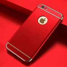 Luxury Slim 3IN1 Shockproof PC Plating Back Cover Case For iPhone 5S 6S 7 Plus M
