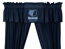 Memphis Grizzlies Window Treatments Valance and Drapes