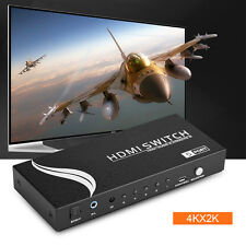 New 5 Port HDMI 5.1 Stereo Audio Splitter Selector HD Video Switcher Switch Box