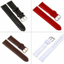 1Pc Leather Stainless Steel Buckle Watch Band Strap Wrist Watch Strap Band Belt