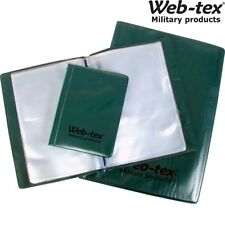 WEB-TEX A6 A5 A4 WATERPROOF FOLDER ARMY 20 PAGE NIREX NYREX ORDERS NOTEBOOK